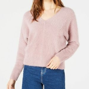 Sage the Label Purple Fuzzy Sweater